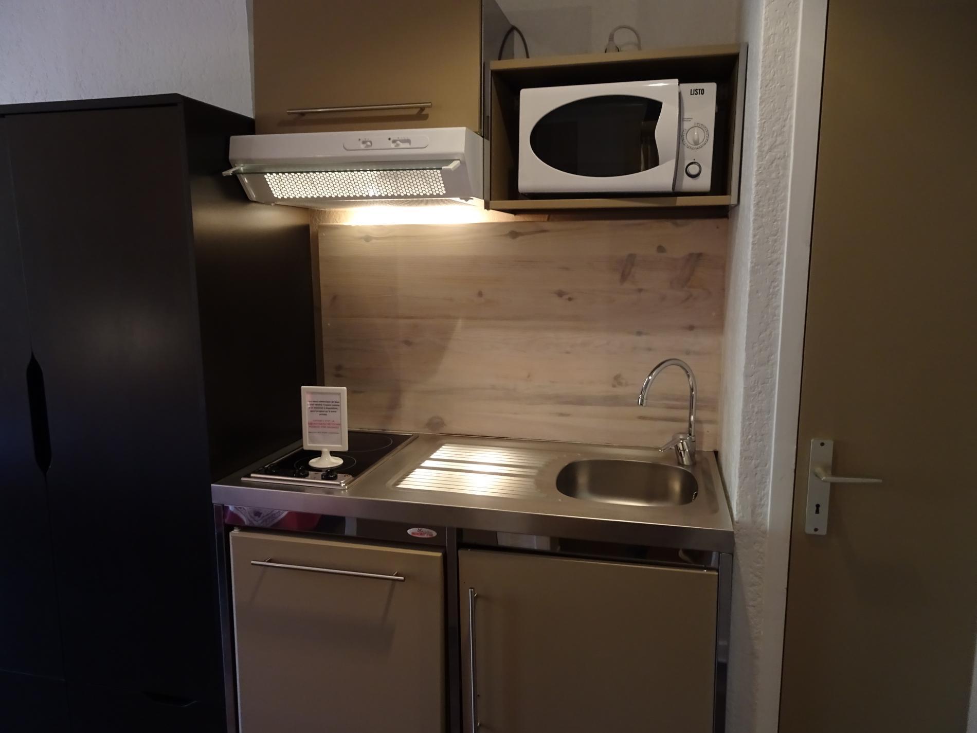 Kitchenette disponible dans nos studios et appartement