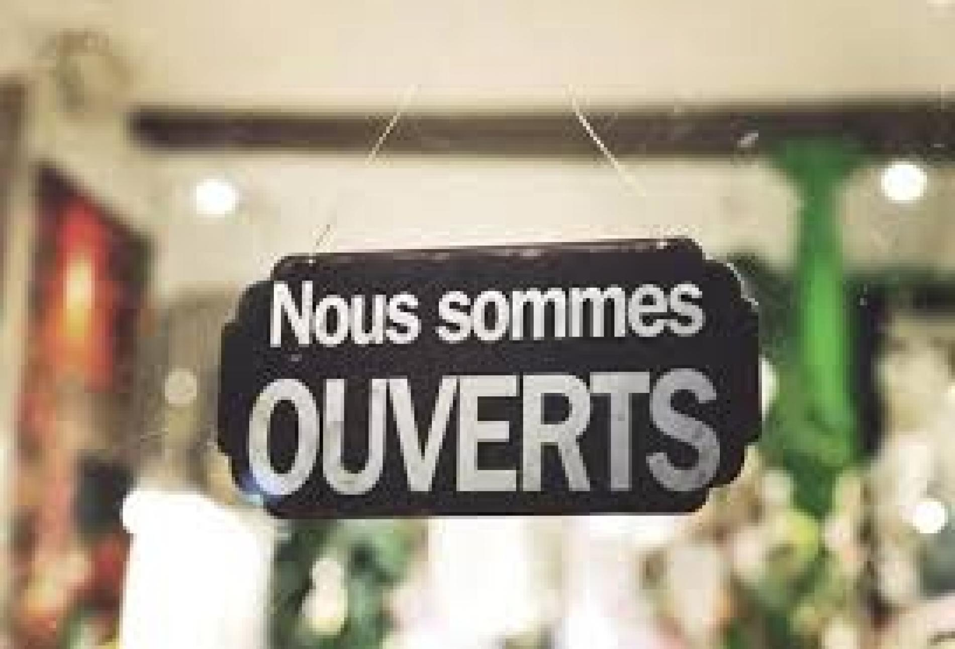 Nous sommes OUVERTS !
