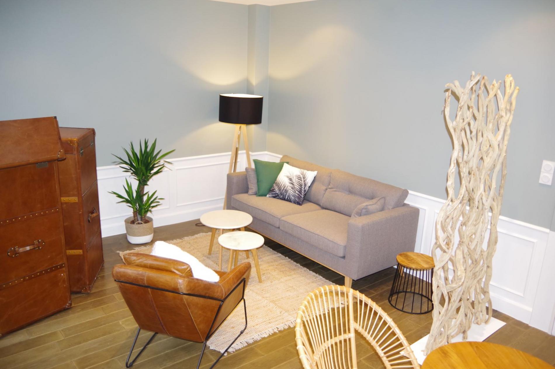 Salon de relaxation hôtel SPA Le Roc Au Chien Bagnoles de l'Orne Normandie proche du centre