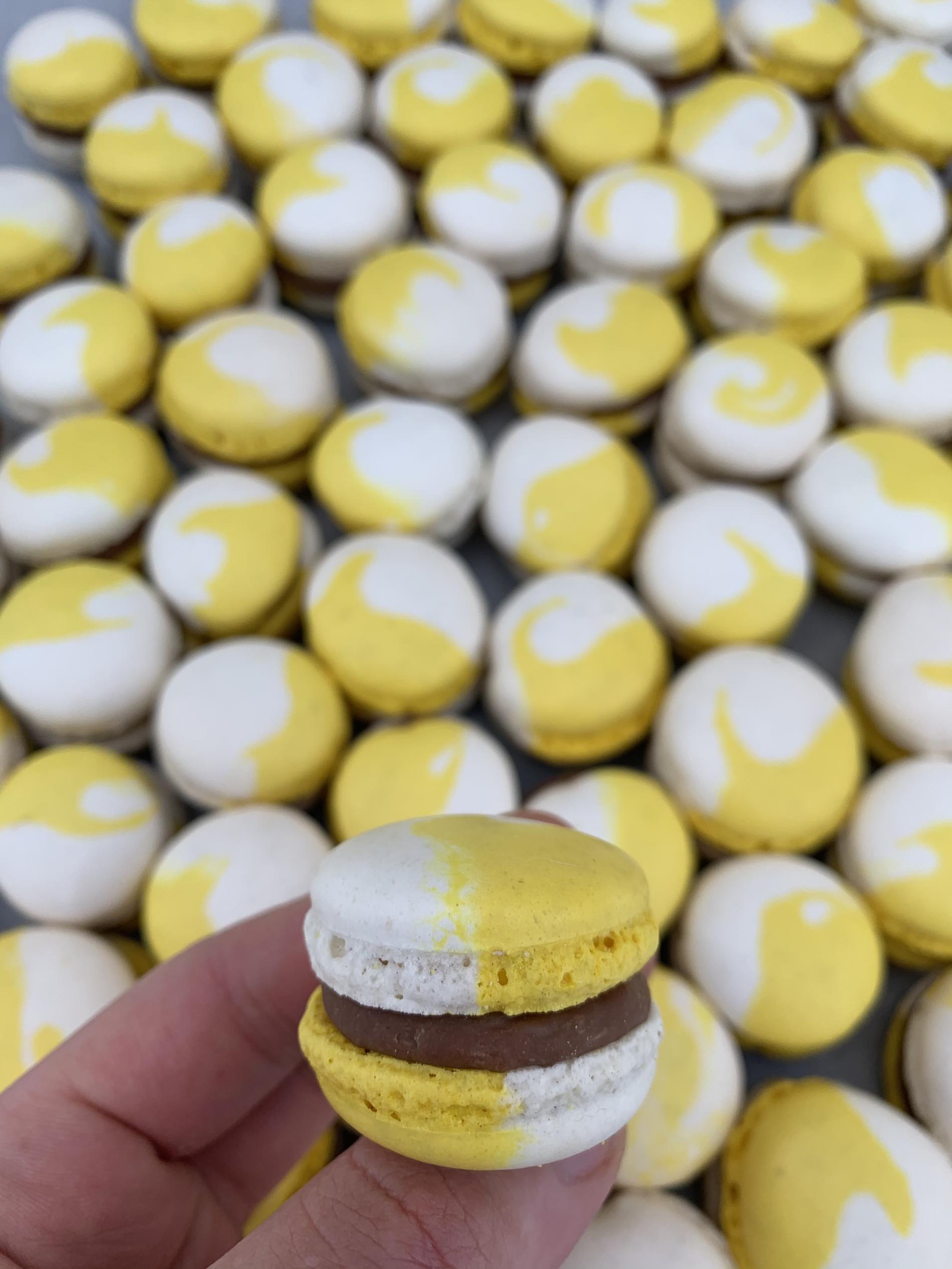 Macarons chocolat au lait / banane