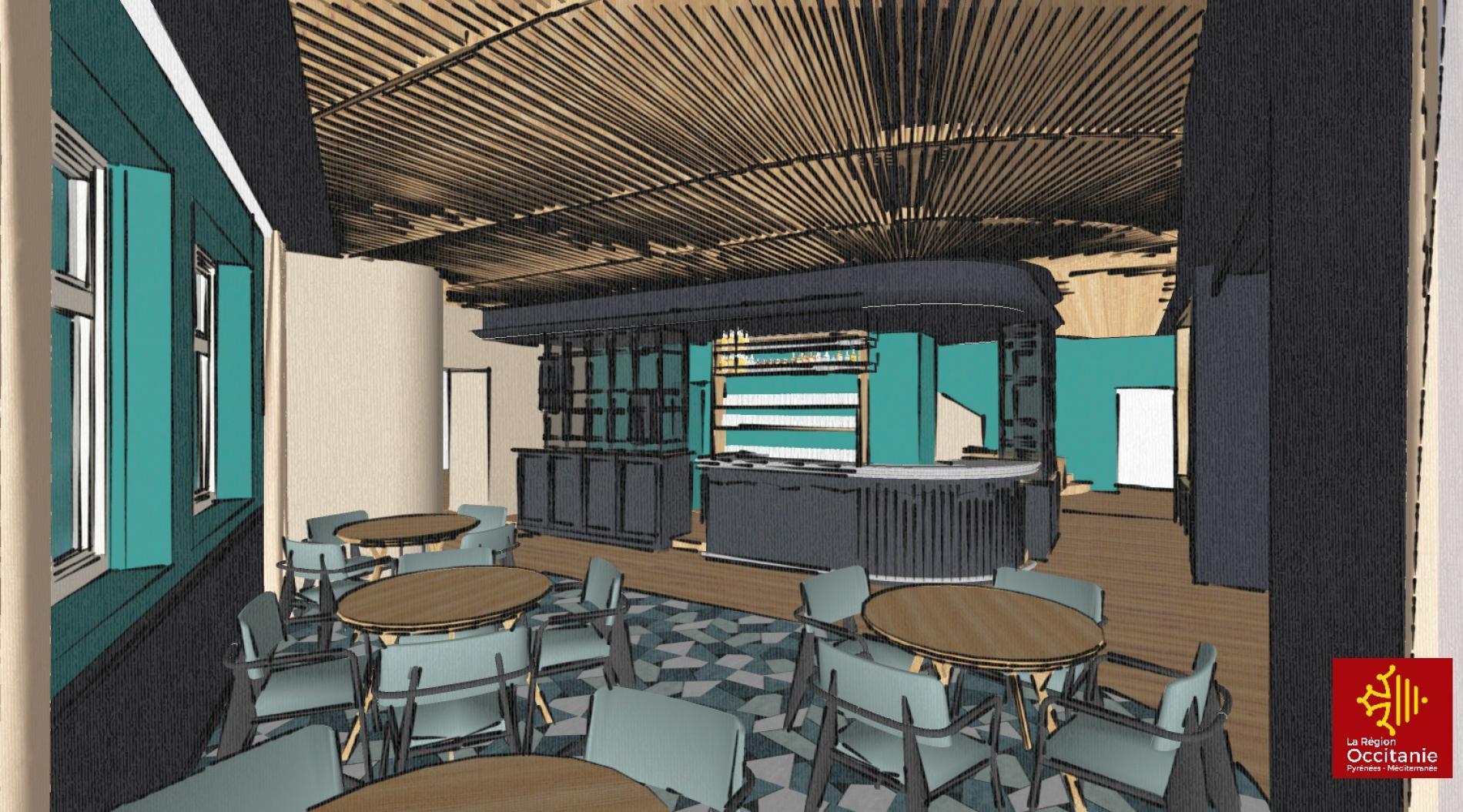 Rénovation du bar et de la réception (en cours)