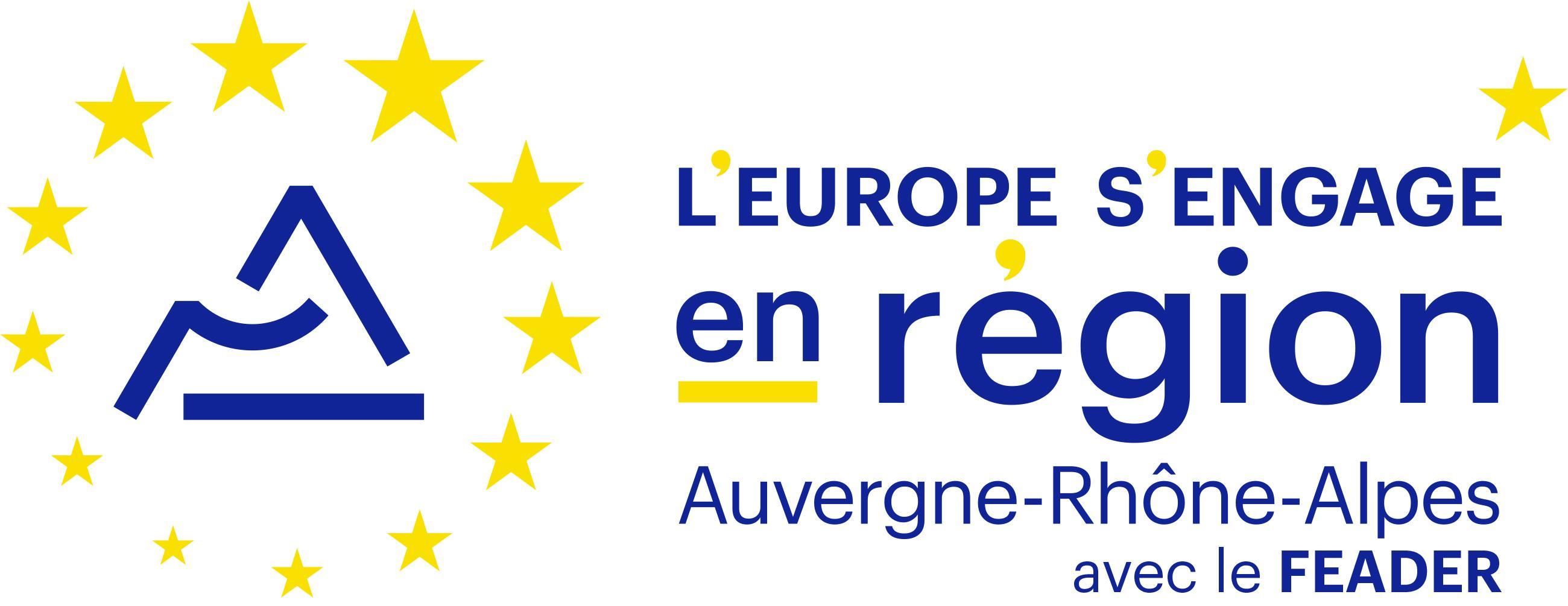 Logo l'Europe s'engage en région Auvergne-Rhône-Alpes avec le FEADER