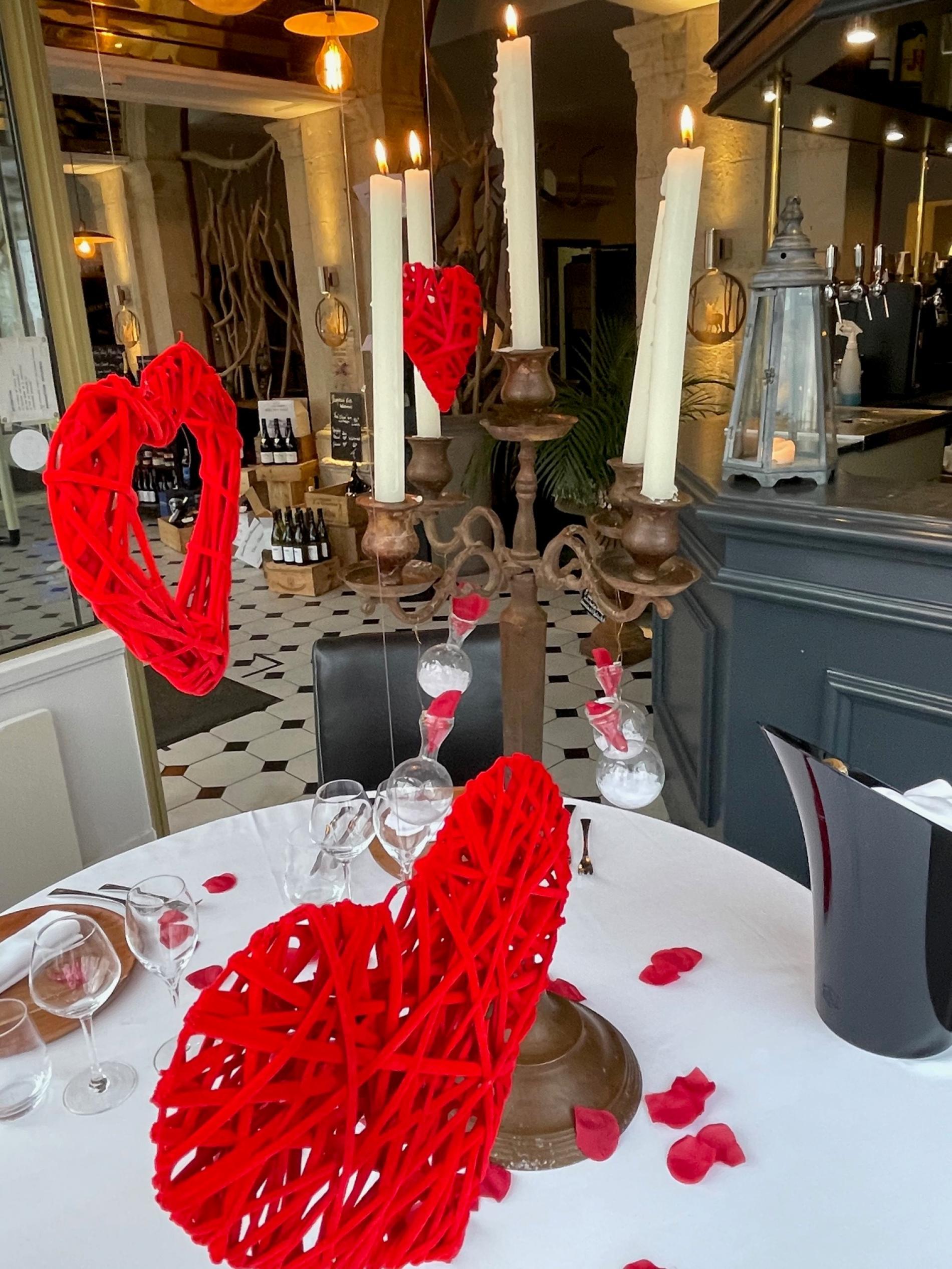 Saint Valentin avec les Glycines, rubrique Menus de Fêtes
