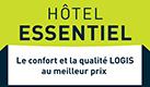 Logo Logis hotel essenteil Lou Caleou au pied du village de Vénéjan, au cœur du vignoble des Côtes du Rhône