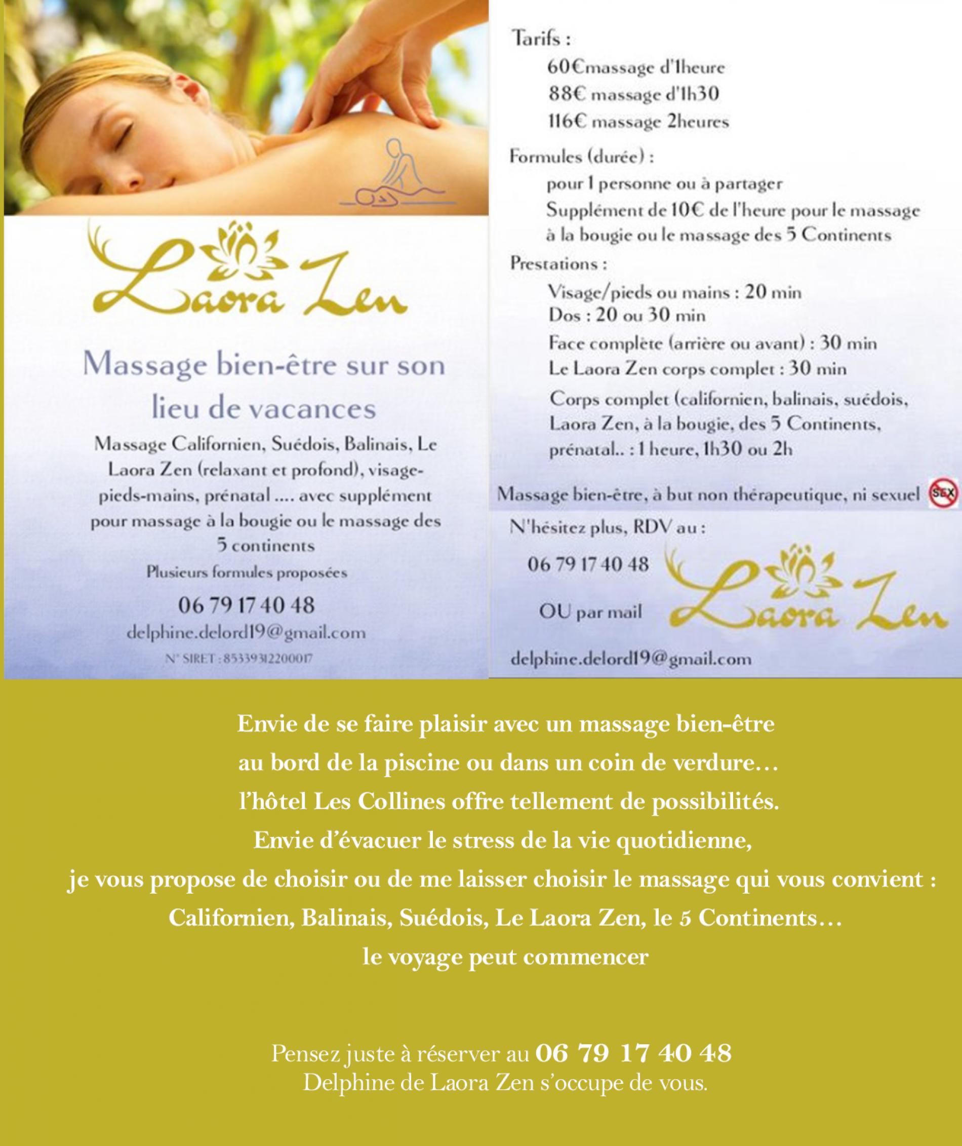 Offre service massage Zen