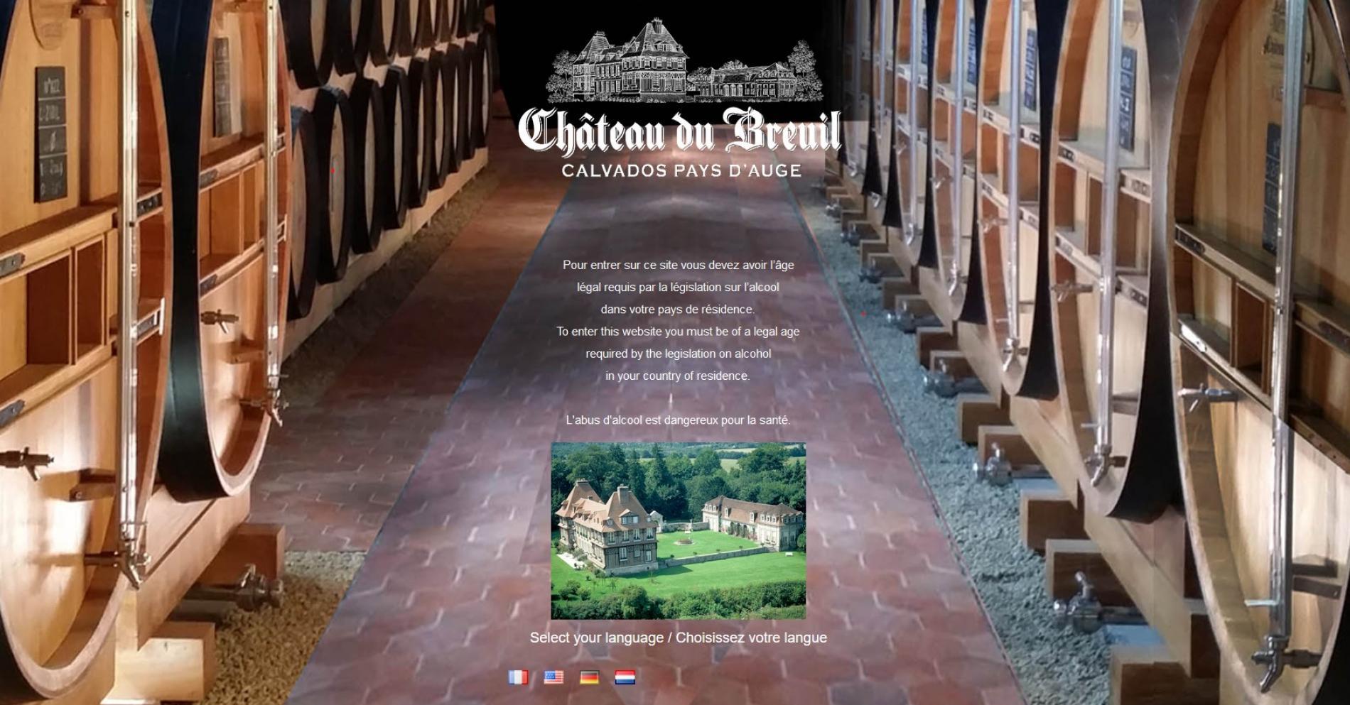 Ddistrillerie Chateau  Du   Breuil à Pont l'évêque