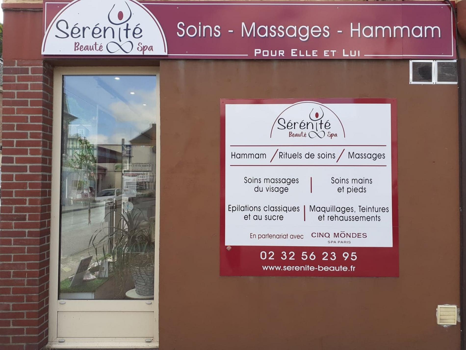 notre partenaire  Sérénité  Beauté   pour vos massages  bien etre