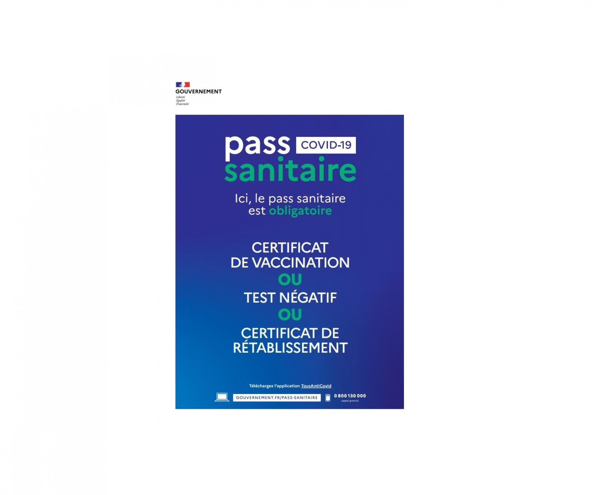 Informations Passeport Sanitaire